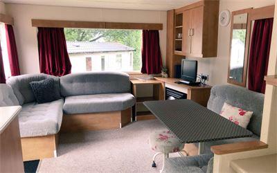 Standard caravan lounge